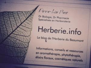 Carte Herberie